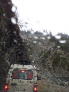 Photograph taken of one of the CJ Rohit sent this picture of a huge landslides near Rudraprayag. He captured this while driving back from Badrinath.