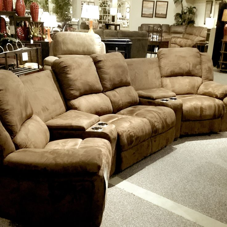 Comfy Couches For Family Room Part - 34: Theater Seating. Cardiu0027s Furniture. #Sectional #Coach #Sofa #Recliner  #Seating