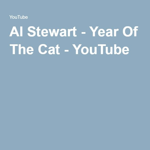 Al Stewart - Year Of The Cat - YouTube