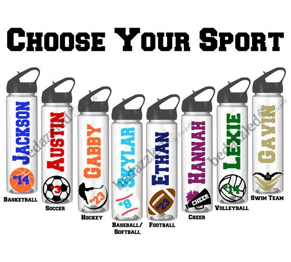 This listing is for a set of 13 water bottles with flip top. Available for soccer, football, basketball, volleyball and many more. Get them