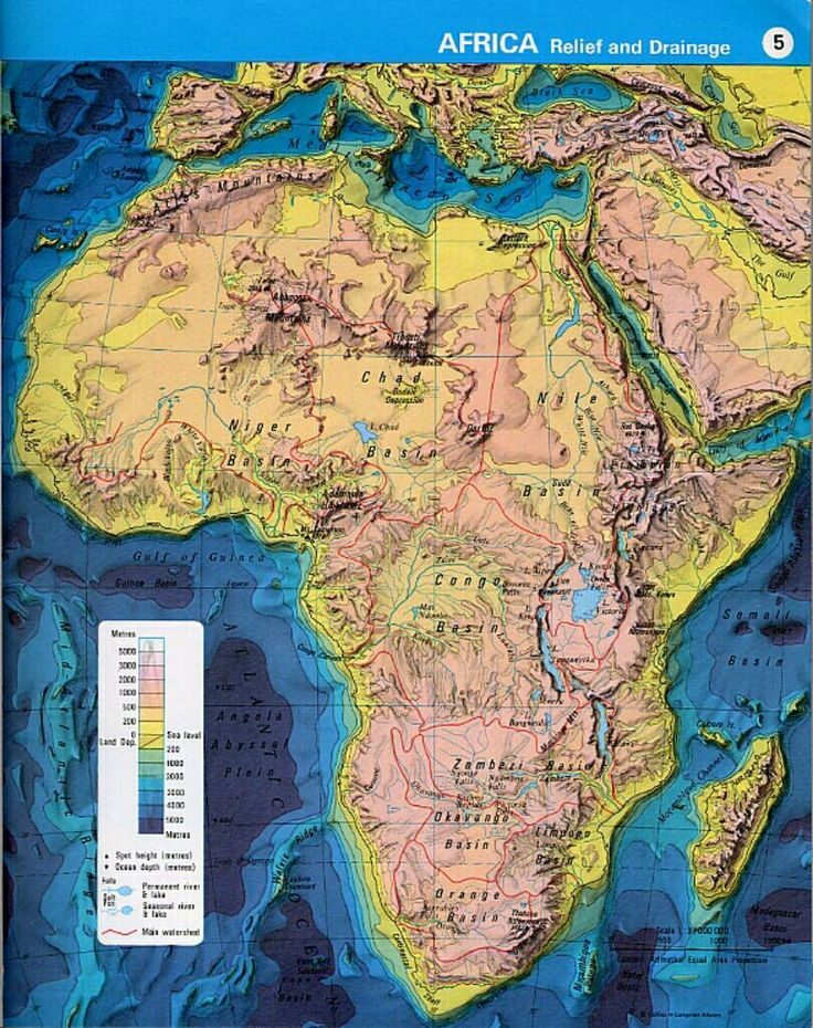 amapaday Topographic map of Africa The
