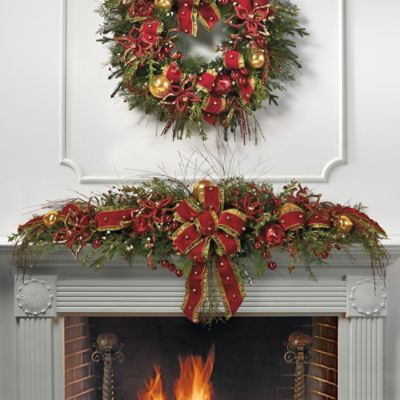 Glad Tidings Pre-decorated Mantel Swag