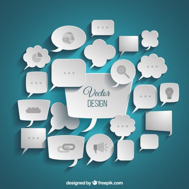 Variety of business speech bubbles Free Vector