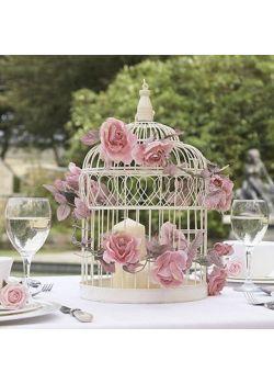 Large Ivory Wedding Bird Cage