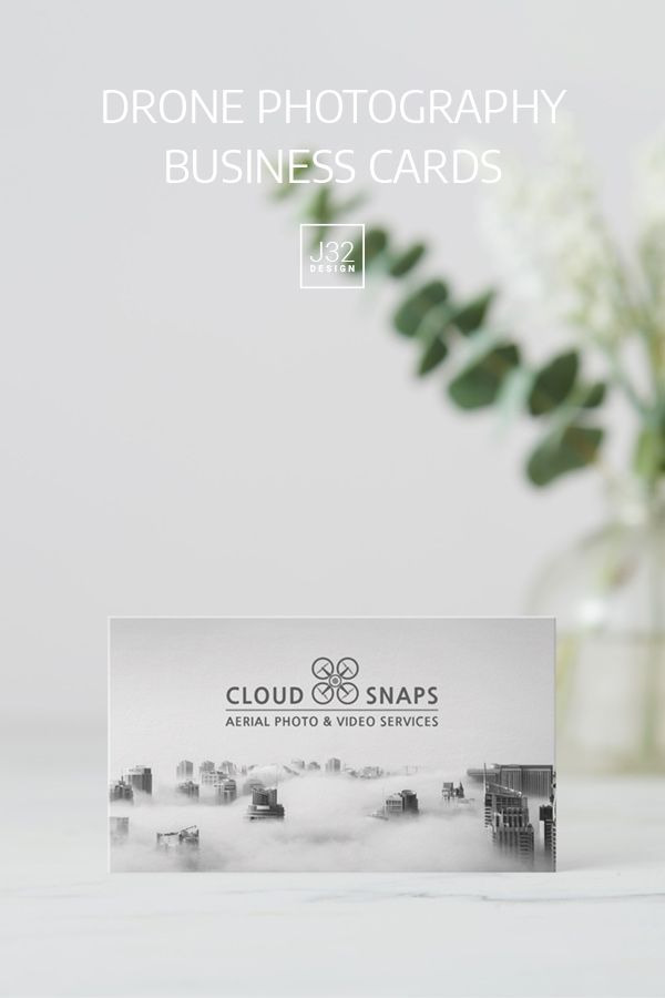 Aerial Drone Photography Business Card