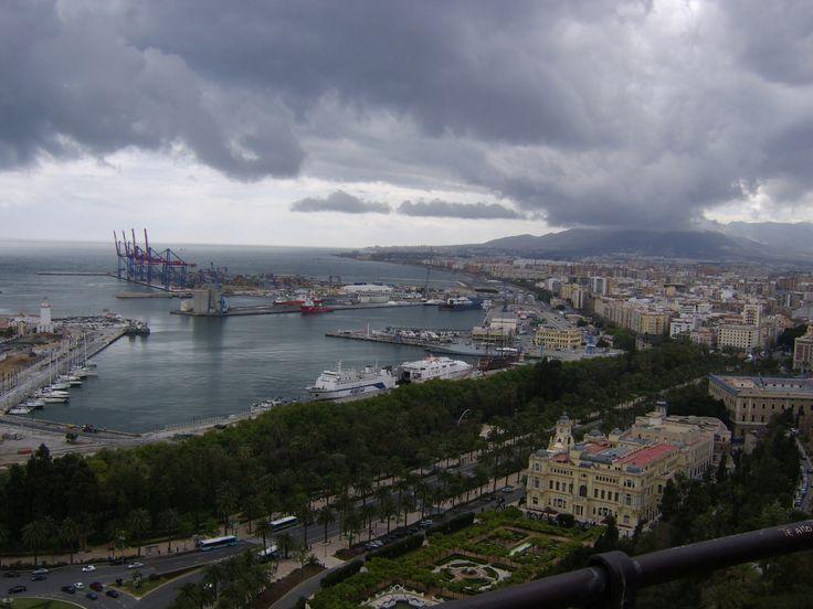 The Port of Malaga, Spain