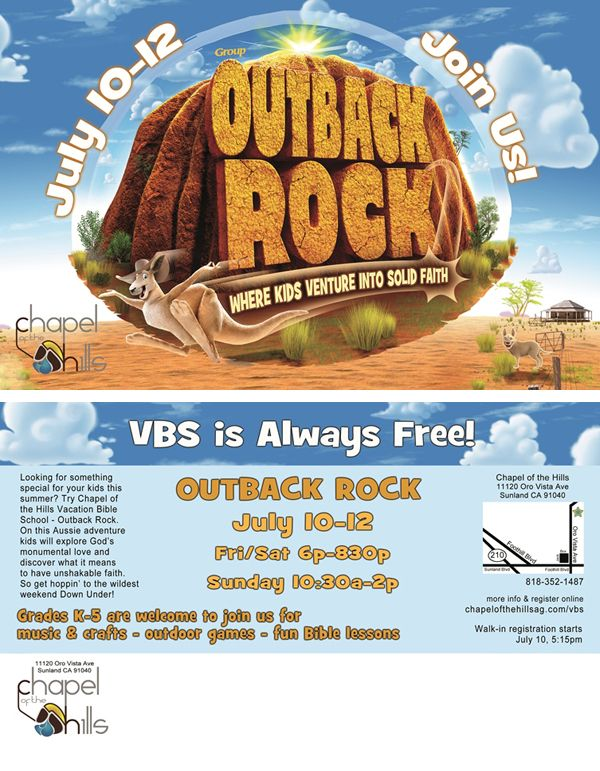 Our VBS postcard this year.