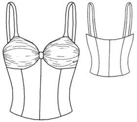 example - #5297 Chiffon draped top