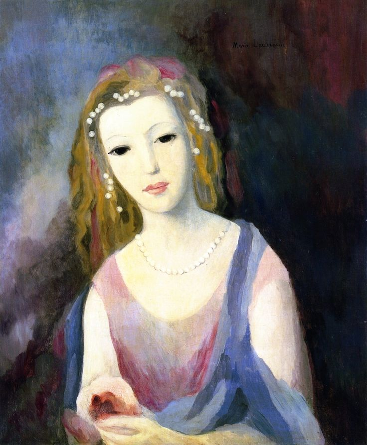 The Athenaeum - Girl with Flowers in Her Hair (Marie Laurencin - circa No dates listed)