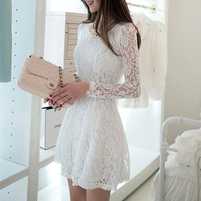 I am so happy to find the Women's Slim Lace Sexy Long-sleeved Dress from ByGoods.com. I like it <3!Do you like it,too?
