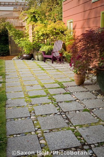 rock path for garden