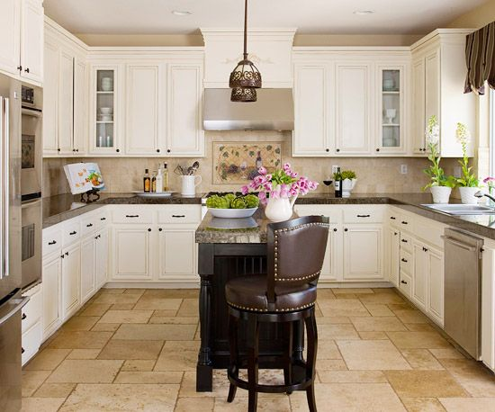 17 best images about kitchens on pinterest countertops - Kitchen island designs for small spaces ...