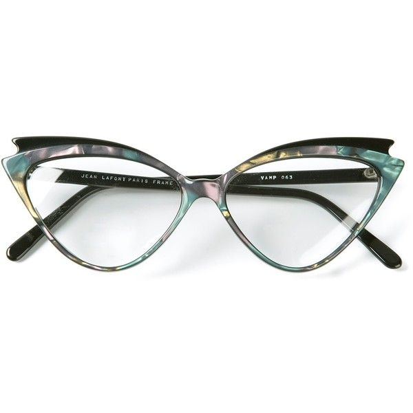 VINTAGE ACCESSORIES 'Vamp' Lafont model glasses ($240) ❤ liked on Polyvore featuring accessories, eyewear, eyeglasses, glasses, sunglasses, vintage cat eye glasses, cateye eyeglasses, vintage eyewear, vintage cateye glasses and colorful eyeglasses