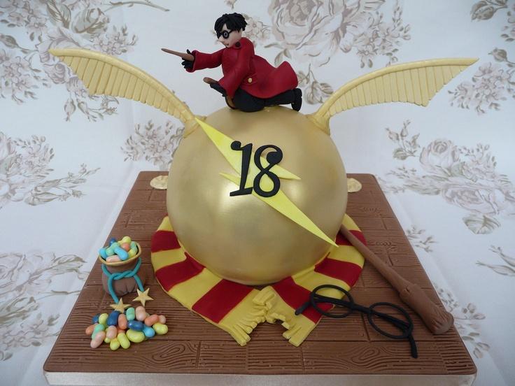 Harry Potter Golden Snitch Quiddich Cake