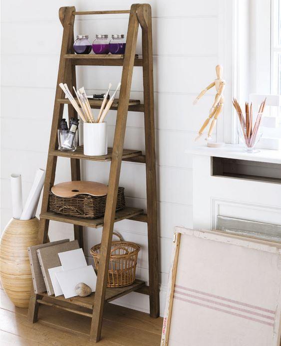 1000 id es propos de etagere echelle sur pinterest swedish design echel - Etagere maison du monde ...