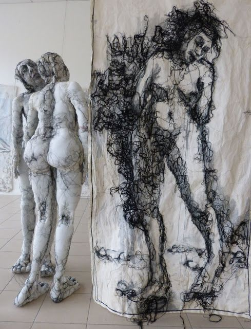 Anne Bothuon sculpture textile, broderie contemporaine