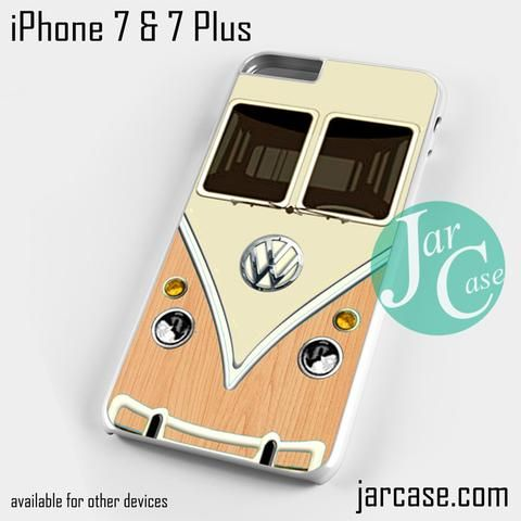 light wood vw retro bus Phone case for iPhone 7 and 7 Plus