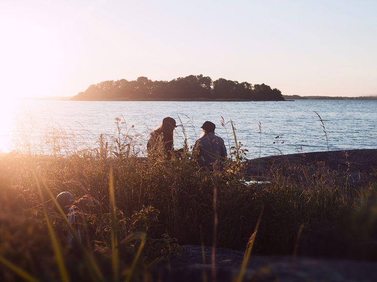 Best friends in archipelago Sweden