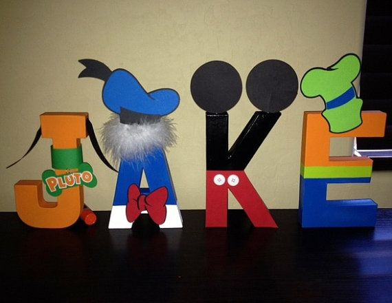 mickey mouse clubhouse letters disney inspired 8 inch painted letters by 23636