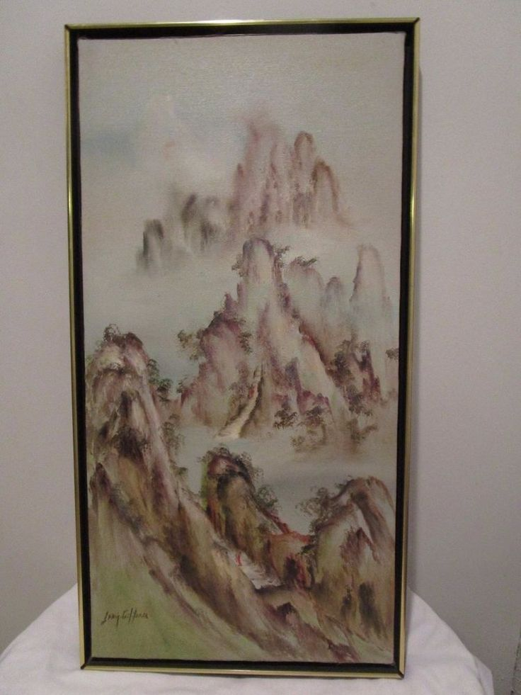SONIA GIL TORRES ORIGINAL OIL ON CANVAS PAINTING ORIENT LANDSCAPE SIGNED #Asian