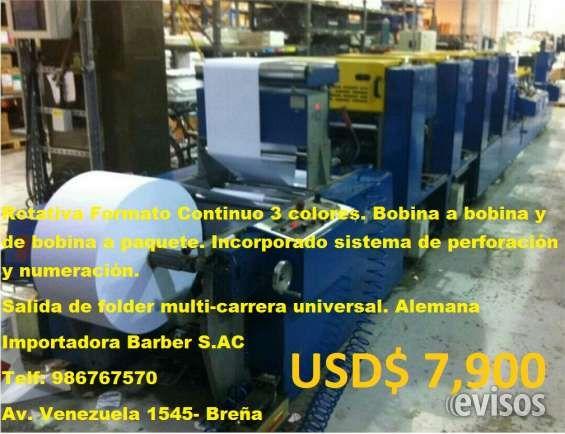 Oferta! Venta de maquinas de imprenta 1. Roland favorite a dos colores 74x52 casi .. http://lima-city.evisos.com.pe/oferta-venta-de-maquinas-de-imprenta-id-642224