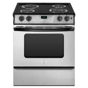 Whirlpool 4.3 cu. ft. Slide-In Electric Range with Self-Cleaning Oven in White-RY160LXTQ at The Home Depot slide in under 1k some electronics. With this one you could open the wall between the kitchen and dining area up.