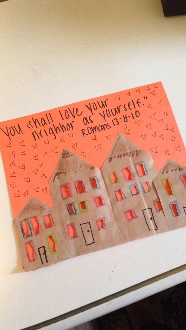 Vbs Craft Ideas For Kids Part - 48: Love Your Neighbor Craft