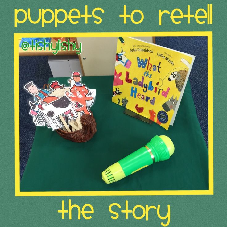 'What the Ladybird Heard' puppets to retell the story.