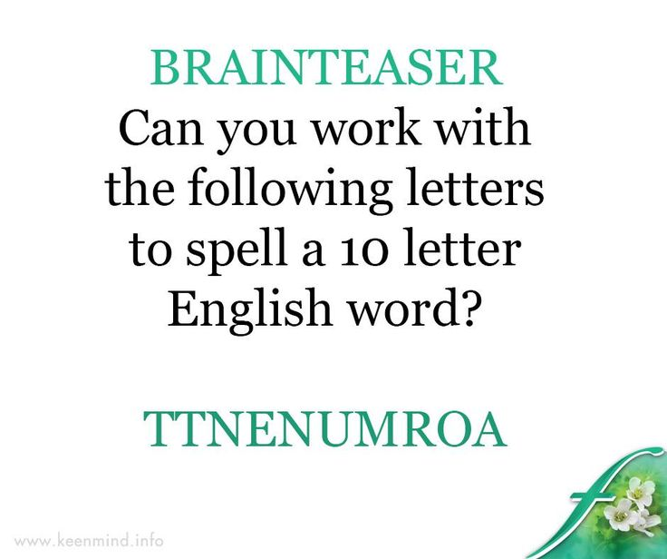 Here is a fun Friday #brainteaser to start our weekend with. Can you unscramble these letters? #Flordis #Keenmind