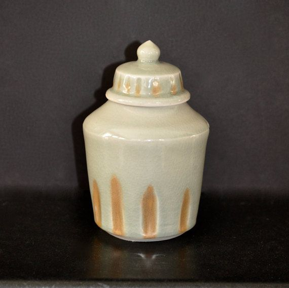 HandMade Pottery Coffee Jar Cookie Jar Lidded Jar Container with Lid Wheel Thrown Jar and Lid