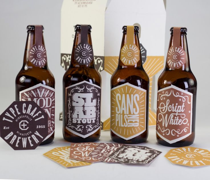 Type Craft Brewery (Concept) on Packaging of the World - Creative Package Design Gallery