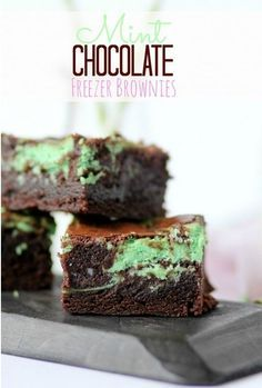 Mint Chocolate Brownies | 27 Make-Ahead Recipes That Freeze Well And Make Great Leftovers