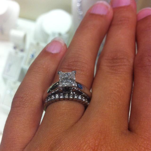 1 25 Carat Princess Cut Solitaire Diamond A Girl Can