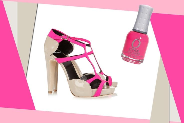 Sandals + Nail polish // Pierre Hardy + Orly Beach Cruiser