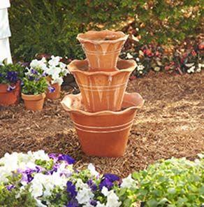 Creative Ideas Diy Terracotta Pot Fountain Fountains Pinterest Pots Garden And