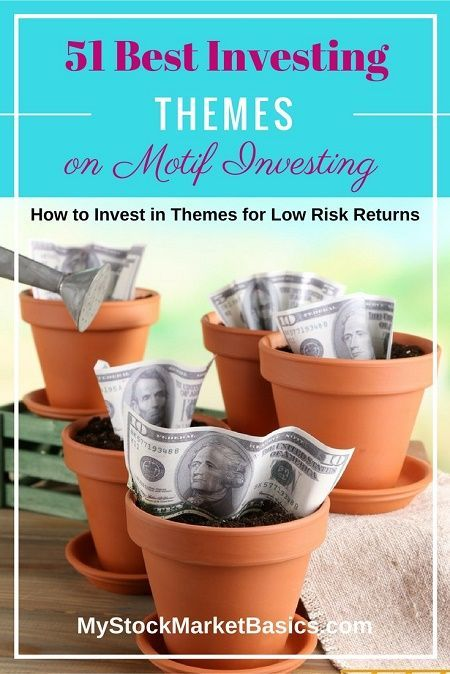 51 Best Investing Themes on Motif Investing. How to invest in Themes for low risk returns. Just found this huge investing resource guide to Motif Investing. Great investment ideas on theme investing and saving money on investing fees. Pick and choose motif investing funds and don't worry about stocks.