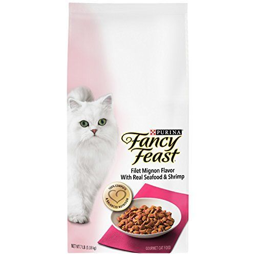 Purina Fancy Feast Gourmet Dry Cat Food, Filet Mignon Flavor With Real Seafood