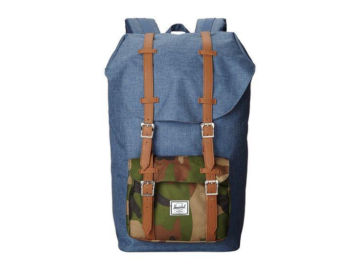 Herschel Supply Co. - Little America Backpack, Crosshatch Navy Camo