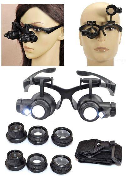 Órás nagyító szemüveg/fejpánt
