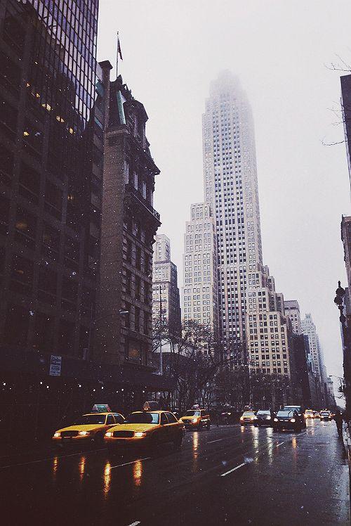 Rainy city.NYC