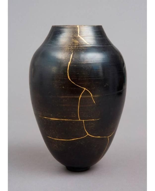 Ceramic and Kintsugi Vase by Karen Swami at 1stdibs | Kintsugi, Art deco vases, Vase