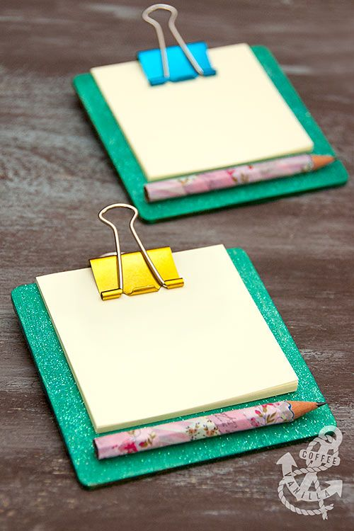 Mini Coaster Clipboards - 30 Minute Crafts                                                                                                                                                     More