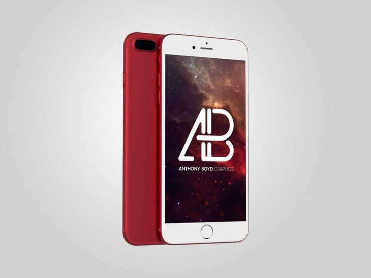 Red clean iPhone Mockup
