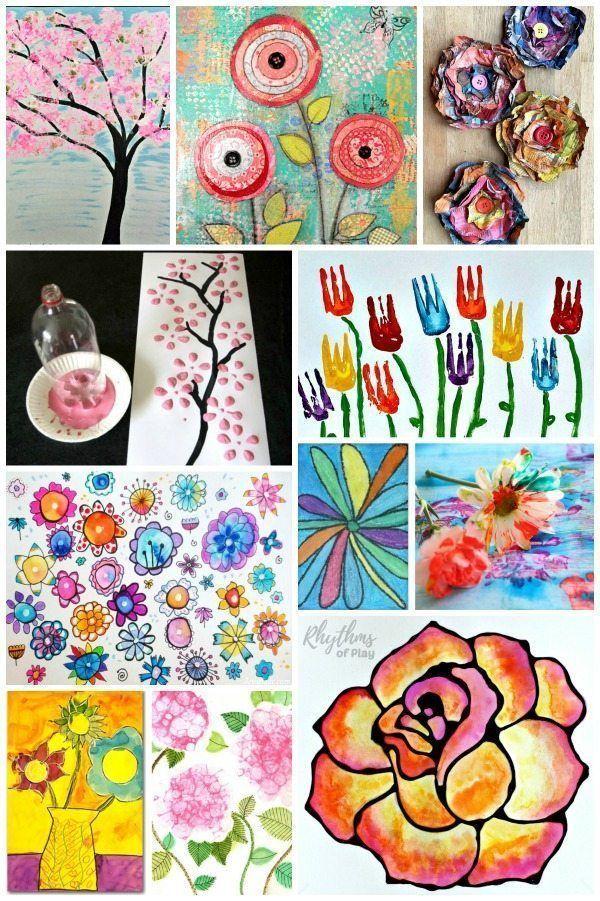 Easy Flower Art Projects Kids Love Flower Art Kids Art