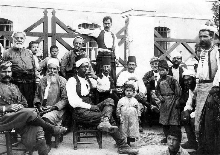 "Group of Mahometans at Candia""... ..from a private album of a Seaforth Highlander during his time in Crete in 1897 as part of an international peacekeeping force.."