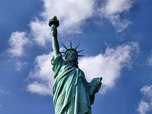 The Statue of Liberty in New York City is a globally recognized symbol of both the United States and ideals such as freedom, democracy, and opportunity