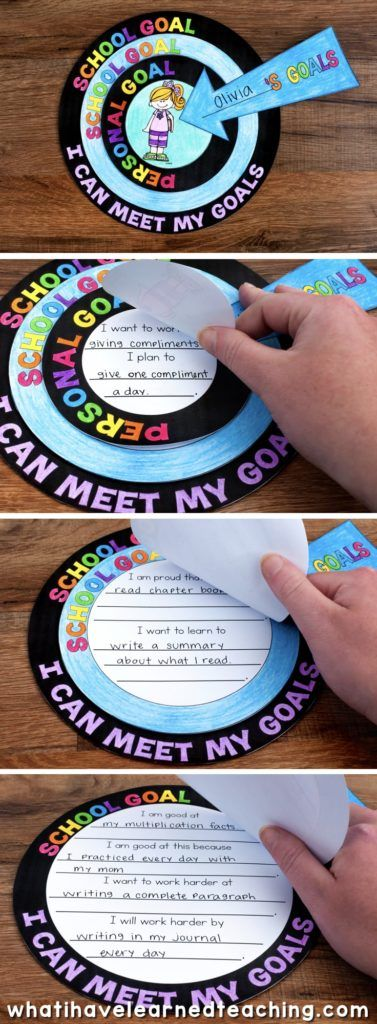 A goal setting craftivity that allows students to artfully express the goals that they set for themselves throughout the year. It comes with a variety of options and can be used at any time of the year. #goalsetting