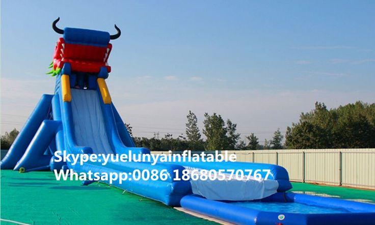 Factory direct inflatable castle slides Pool slide, large water park Ice World Water Slide KY-716