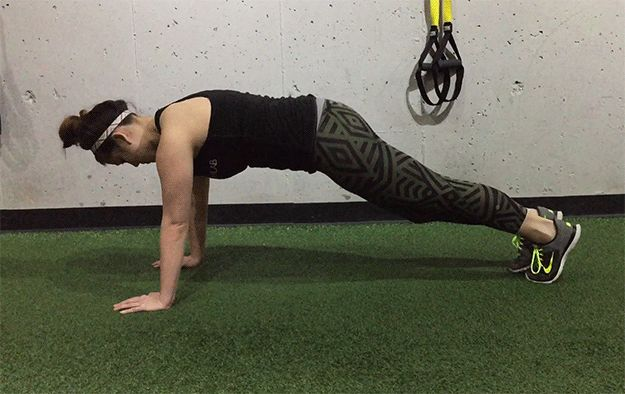 Here's how to do a spider lunge: | Here's a Crazy Intense Workout That Will Make You Feel Like a Beast