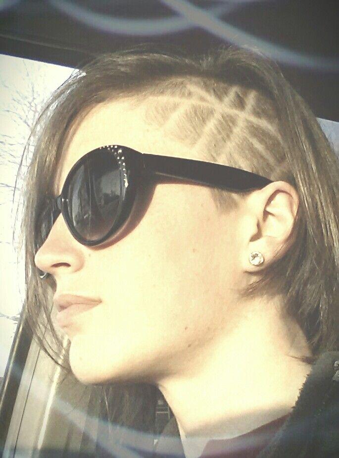 Bec Heart  sidecut  hairtattoo  Sidecut DesignSidecut Hair Designs